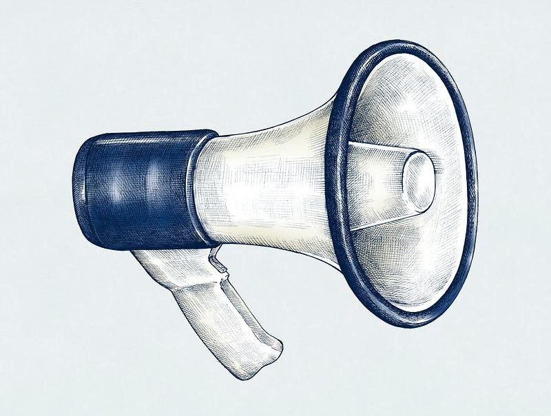 dessin d'un mégaphone