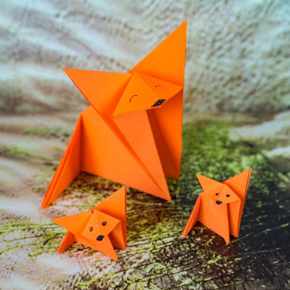 renards en origami